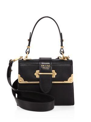 Prada - Cahier Leather Handbag