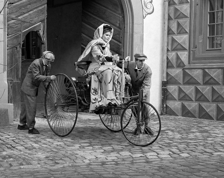 Bertha Benz, wife of the inventor Karl Benz. She invested in Benz's business in 1871, enabling him to develop the first patented automobile, and in 1888 she was the first person to drive an automobile over a long distance.