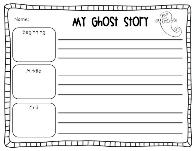 first grade ghost story map
