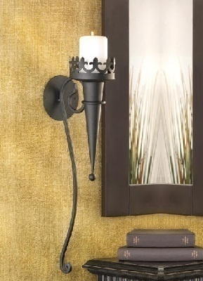 Wall Sconce Iron Candle Holder Goth Medival Torch