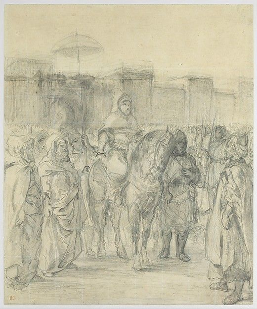 "Eugène Delacroix (French, 1798–1863). Study for ""The Sultan of Morocco and His Entourage,"" by 1845. The Metropolitan Museum of Art, New York. Rogers Fund, 1961 (61.202) 