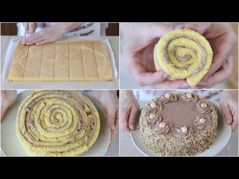 TORTA NOCCIOTELLA di Benedetta - Hazelnuts Nutella Roll cake Recipe - YouTube