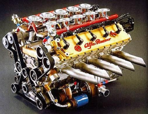 (Beautifully Engineered Alfa Romeo 164 PROCAR 3.5L V10 Engine)