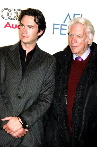 James and Donald Sutherland at the American Haunting Premiere -- they worked together again in the 2009 CBS pilot, The Eastmans.