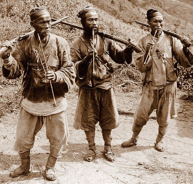 tiger hunters, Korea, 1900's