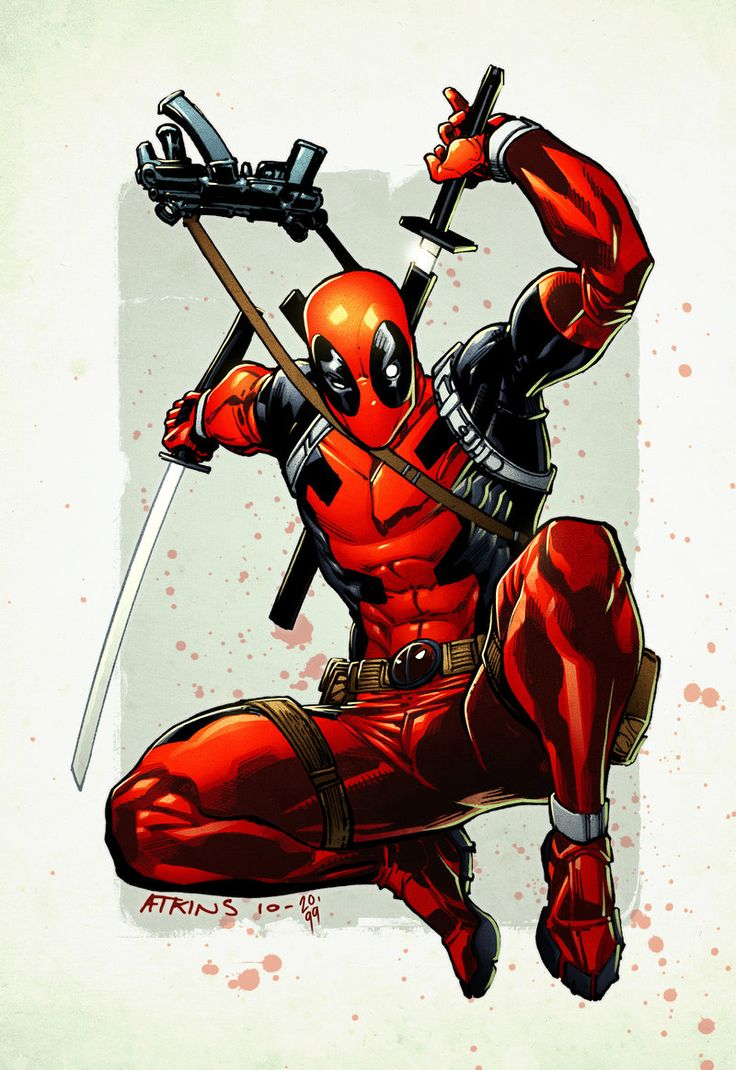 deadpool by robert atkins deadpool pinterest artworks deadpool
