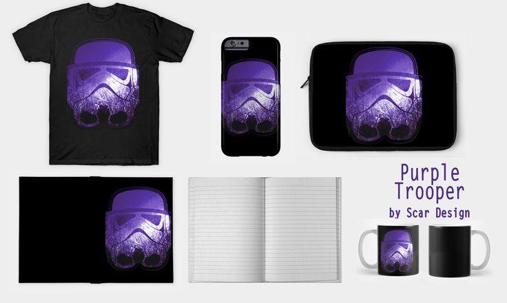 Purple Trooper by Scar Design #teepublic #stormtrooper #tshirt #scifitshirt…