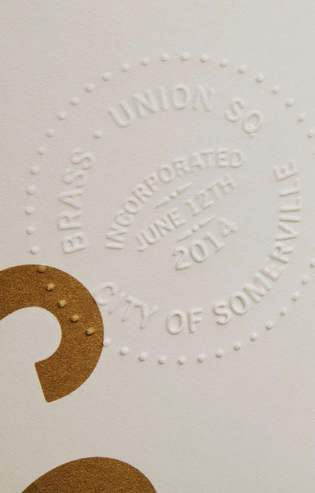 Blind emboss stamp over litho