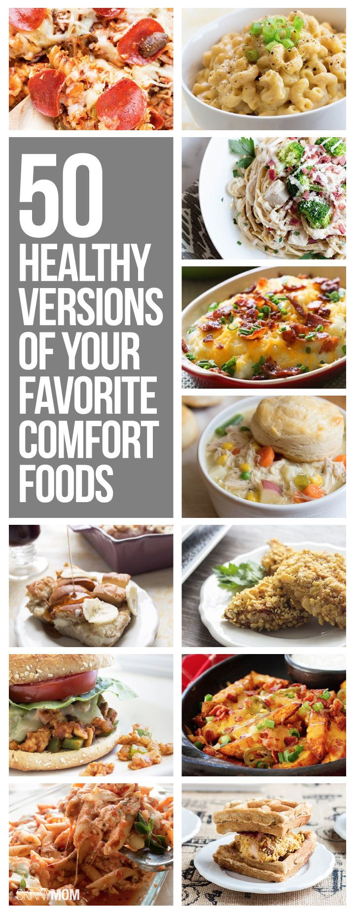 Love junk food? Enjoy these healthier meals for your fave comfort foods.