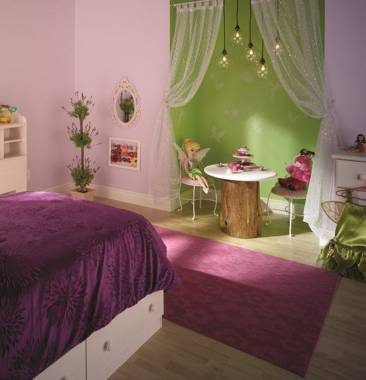 Refresh a Room Series Part 1: Revamp with Disney Paint! Liking these colors, but probably not a tinker bell theme