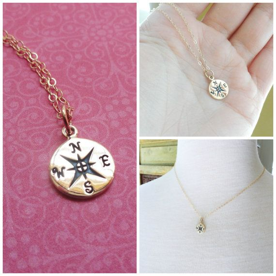 compass necklace friendship necklace compass charm
