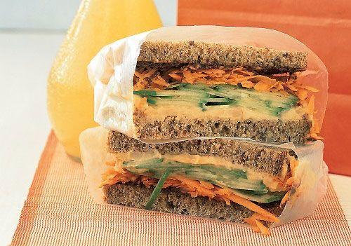 Сэндвич с хумусом и морковью. Рецепт приготовления блюда