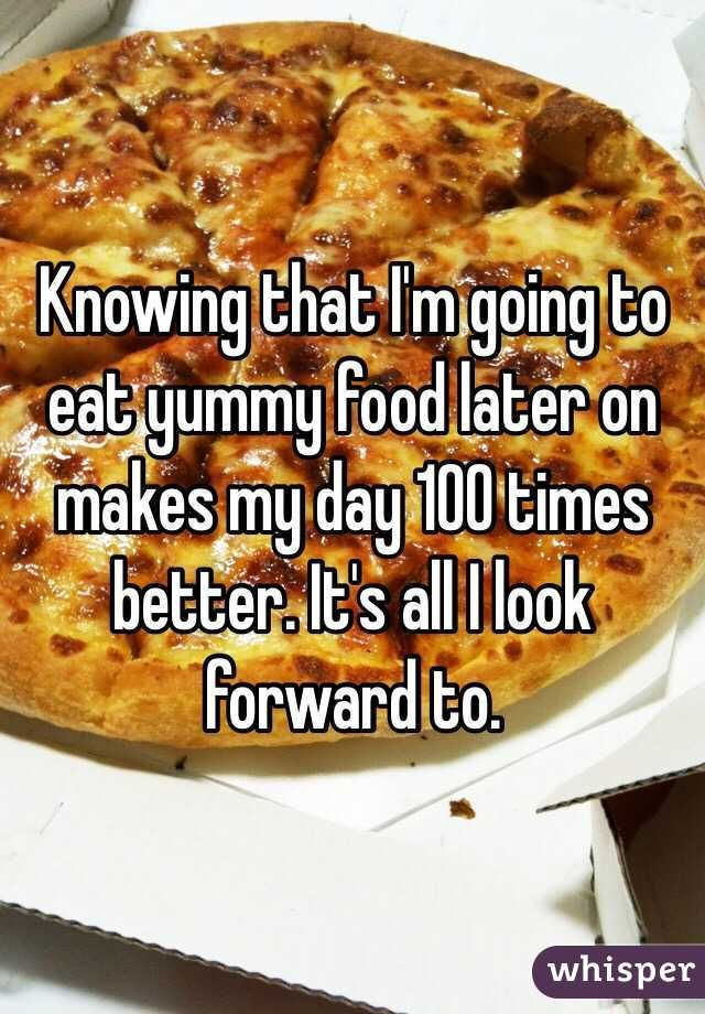 Whisper App. Confessions from People Who Are Madly in Love with Food