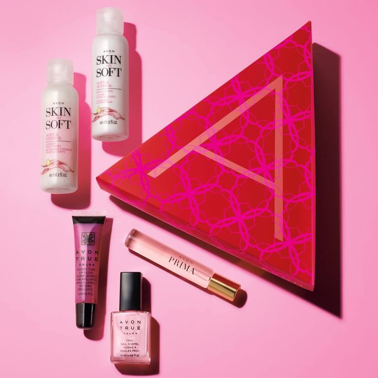 In honor of Breast Cancer Awareness month, we're proud to introduce The Power of Pink A-Box.  Here's what's inside:   - Avon True Color Nailwear Pro+ in Pastel Pink - Avon True Color Glossy Tube Lip Gloss in Pink Burst - Prima Eau de Parfum Travel Spray -Try-it sizes of Skin So Soft Soft & Sensual Creamy Body Wash and Body Lotion