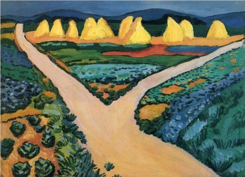 August Macke   Vegetable Fields, 1911