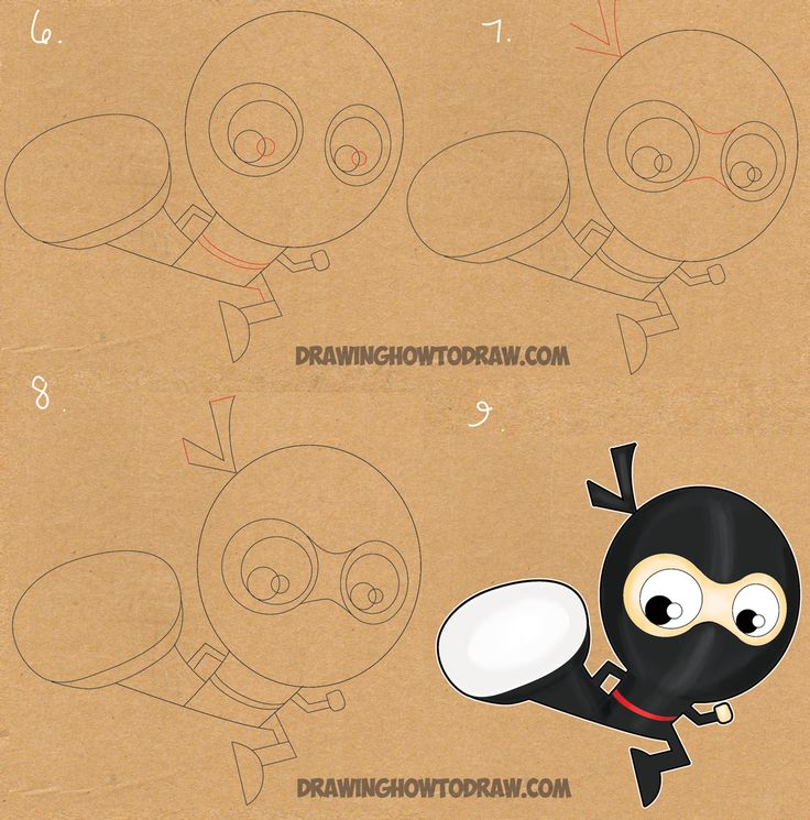 Learn How to Draw Cartoon Ninjas with the Letter F - Easy Drawing Tutorial for…