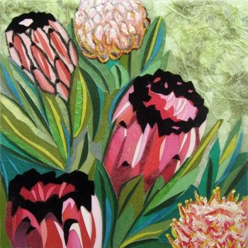 Protea collage