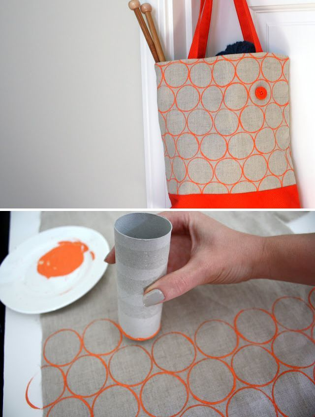 DIY Toilet Paper Roll Printing on fabric — tutorial from Lime Riot: limeriot.bl