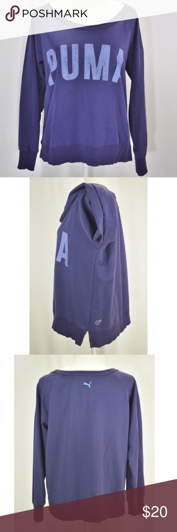 "Purple Puma Sweatshirt Purple Puma Sweatshirt🔹Size XL🔹68% cotton, 25% polyester, 7% elastane🔹Great condition🔹This sweatshirt is meant to come up for a bit of a cropped look-top of shoulder to bottom hem is approx 23.75""🔹Smoke and pet free home Puma Tops Sweatshirts & Hoodies"