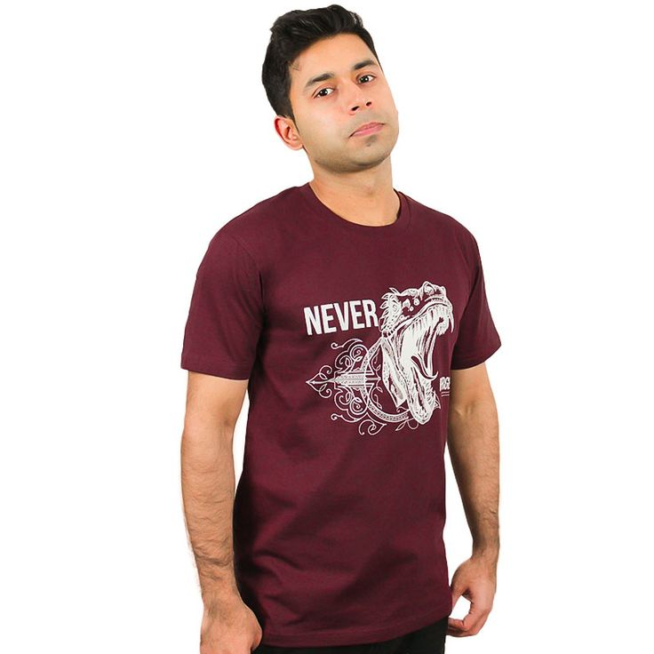 Burgundy NEVER FORGET T-Shit/Tee Hand Printed in Melbourne.