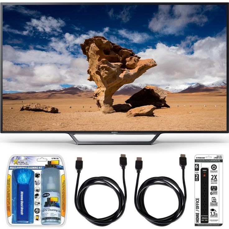 Sony KDL-48W650D 48-Inch Class Full HD 1080P TV with Built-in Wi-Fi Accessory Bundle includes Television, Screen Cleaning Kit, Power Strip with Dual USB Ports and 2 HDMI Cables Price