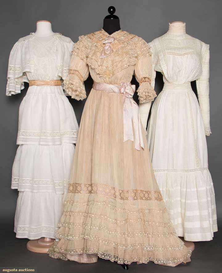 Three Summer Tea Gowns, 1900-1915, Augusta Auctions, April 8, 2015 NYC, Lot 316