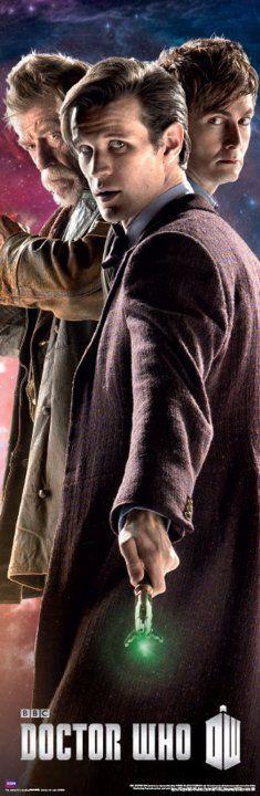 John Hurt, David Tennant and Matt Smith in Doctor Who (2005)