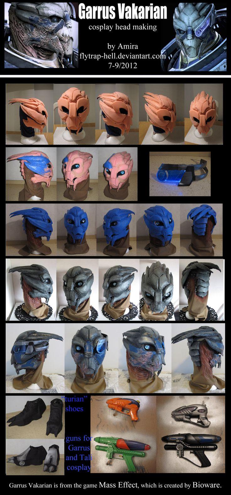 Garrus -cosplay head making- by Flytrap-Hell
