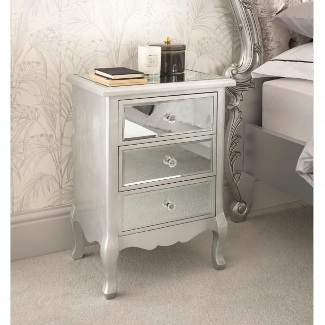 Venetian Mirrored Bedside Table Antique Bedside Tables Mirrored Furniture Mirrored Bedroom Furniture