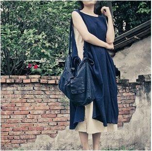 Выпуск продукта в летом 2016 года оригинальный дизайн свободные большой ярдов 100% хлопок Лен женская асимметричные платья без рукавов купить на AliExpress