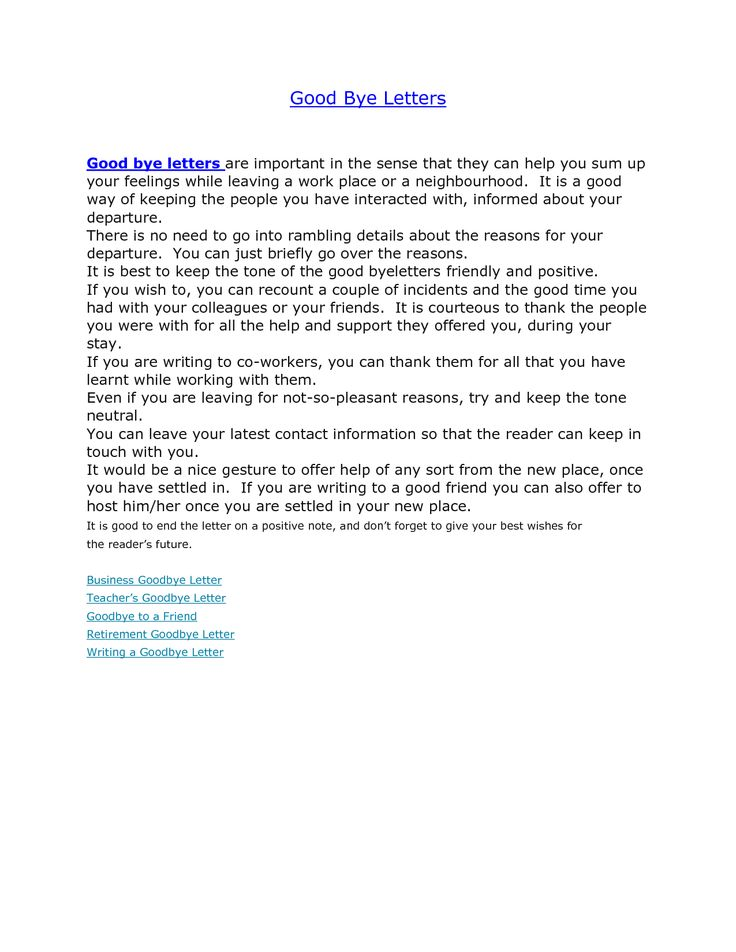 Goodbye Email To Coworkers Best Business Template Goodbye Letter