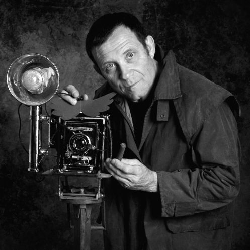 Irving Penn with a camera