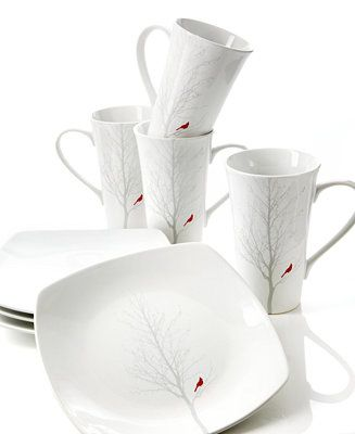 222 Fifth Dinnerware, Red Cardinal Collection - Casual Dinnerware - Dining & Entertaining - Macy's