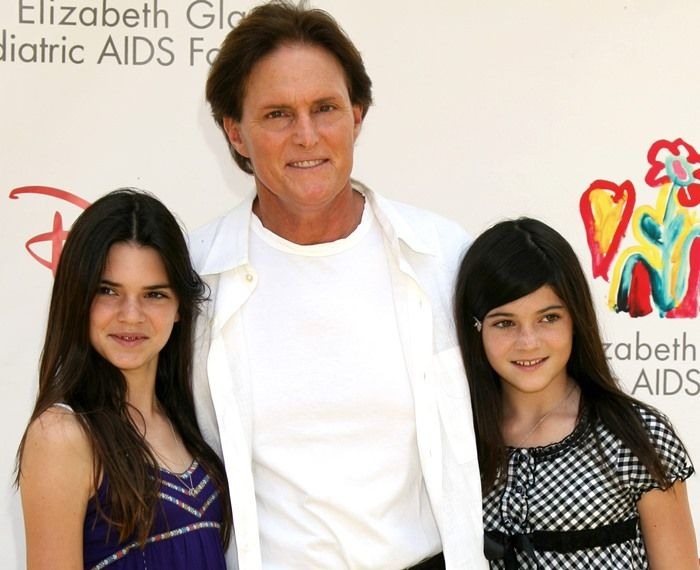 Television personalities Kendall Jenner, Bruce Jenner and Kylie Jenner at the A Time for Heroes Celebrity Carnival Sponsored by Disney benefiting the Elizabeth Glaser Pediatric AIDS Foundation at the Wadsworth Theater on June 8, 2008