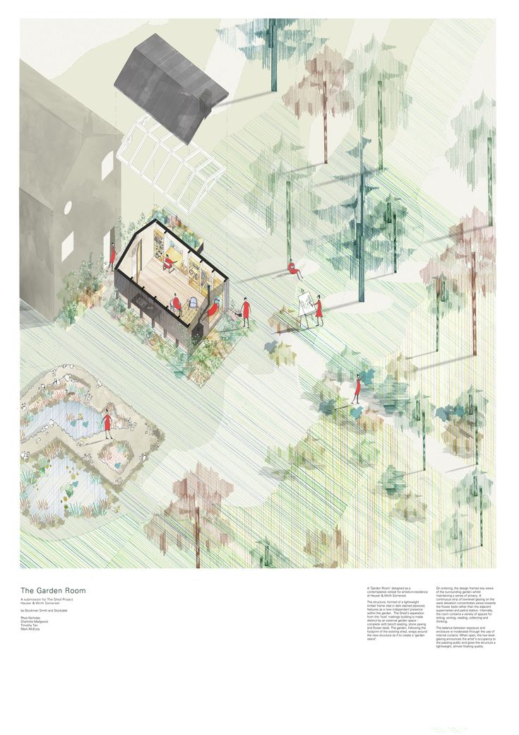 Hauser & Wirth: The Garden Room. Gluckman Smith proposal for Garden Shed architecture competition.