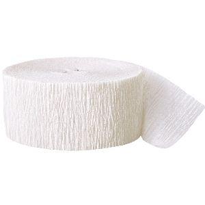 Crepe Streamers 500' White