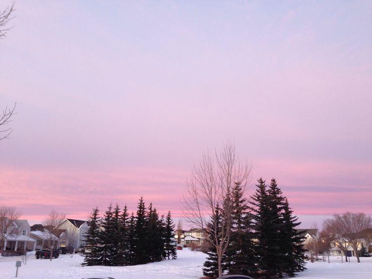 Winter day in beautiful Okotoks