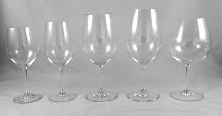 Selecting the right glass for the right grape is essential for getting the most out of tasting wine. This is a great beginning set of Riedel glassware to start with.  (From Wine Sense, Chapter 9: Wine and Taste)