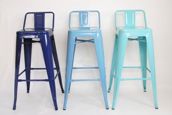 Go bright....go colorful. Each stool is painted upon order and if you dont see a color youre dying to have in the RAL chart, we can make it happen. Well just need a reference to the color you want and we can match it. *** DISTRESSING NOW AVAILABLE : If youd like your chairs to have a weathered, aged look, just let us know and well get it done. $50 upcharge for each piece due to additional labor and materials used during painting. *****   Shipping by quote only. The $58/stool is a rough…