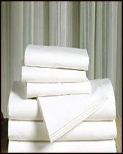 """Hotel T-180 Percale Pillow Cases (Price/Dozen) by canyon crest. $39.99. House to Home is proud to offer you the T-180 percale line of Hotel sheets & pillowcases. Known throughout the hospitality industry as one of the best products for guest room linens, T-180 percale sheets and pillowcases offer quality and durability second to none. Made to withstand the rigors of institutional laundering with a combination of 50% cotton & 50% polyester.Flat sheets have a 2"""" hem top and bottom..."""