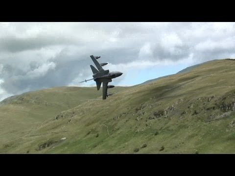 Awesome Ground Hugging Tornado Jet In The Welsh Mountains. - YouTube