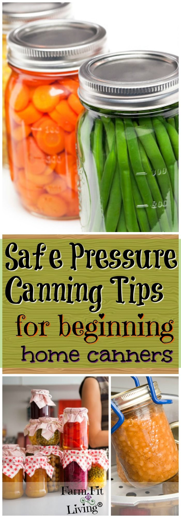 Are you looking for a good list of safe pressure canning tips? These tips are proven ways you'll have a safe canning experience. via @www.pinterest.com/farmfitliving