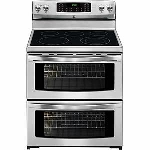 Kenmore - 97223 - 7.2 cu. ft. Double-Oven Electric Range w/ Convection - Stainless w Black Trim | Sears Outlet