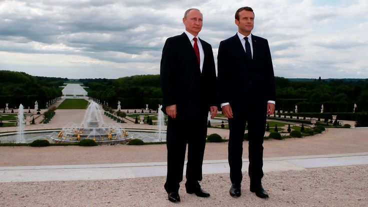 """Macron Gets Under Putin's Skin 2017 May 29    - """"Meddling in elections?"""" Putin declared he & Macron hadn't spoken about that. To which Macron made it clear that they had indeed spoken about that issue 2 weeks ago - But what Putin could not get around was the fact that he had in fact very publicly backed a loser Macron rival Marine Le Pen, a quasi-fascist ultra-nationalist he received at Kremlin during French presidential campaign"""