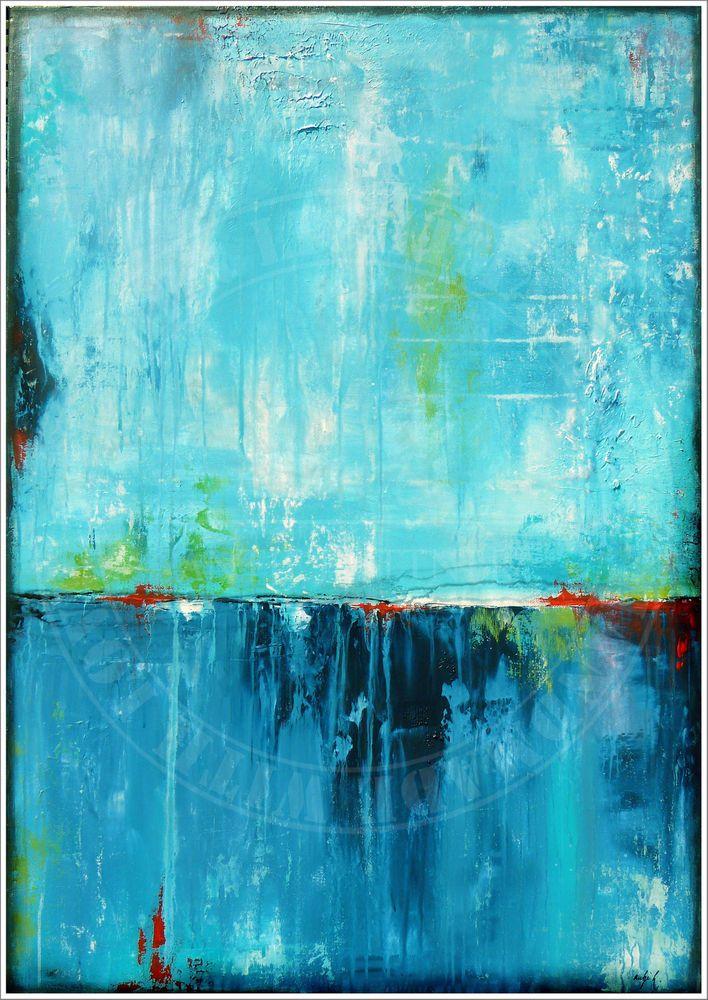 ANTJE HETTNER* Bild ORIGINAL Kunst GEMÄLDE Leinwand MALEREI abstrakt XXL Acryl – Nico Power