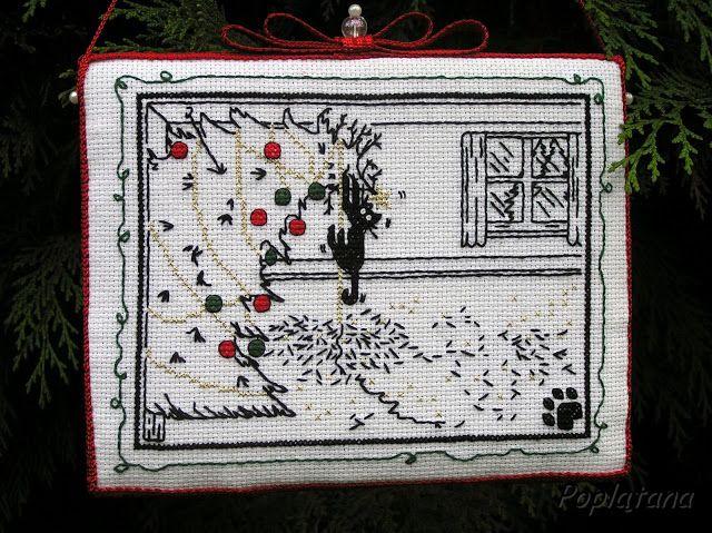 Poplątana - cross stitch ornament