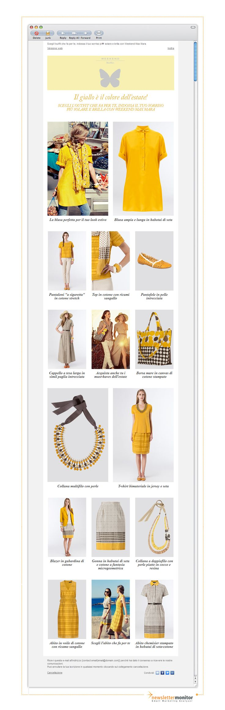 Brand: MaxMara | Subject: Questa settimana scegli il giallo