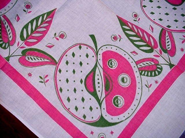 Vintage Fab 50's Modern Tablecloth Kitchen Towel Startex Label Midcentury RARE | eBay
