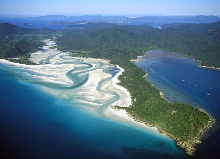plaża Whiteheaven na wyspach Whitesundays (Australia)