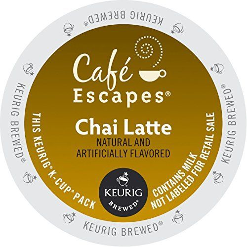Café Escapes Chai Latte K-Cup Portion Count for Keurig Brewers, 24 Count - http://teacoffeestore.com/cafe-escapes-chai-latte-k-cup-portion-count-for-keurig-brewers-24-count/